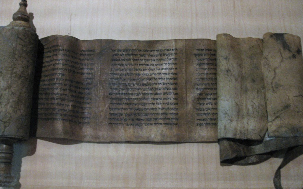 A 13th/14th-century scroll of the Book of Esther.